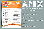 Apex free Professional resume template - MS Word Resume Templates