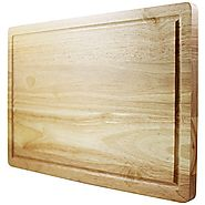 Latest Cutting Board - Lifetime Replacement Warranty - Best Rated Hardwood Chopping Block - Large 16x10 Inch Kitchen ...