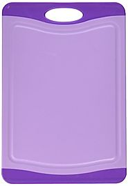 Neoflam Poly Cutting Board with Microban Antimicrobial Protection, Purple