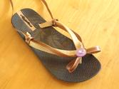 How to Make Gladiator Sandals from Flip Flops