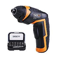 Tacklife SDP50DC Advanced Cordless Rechargeable Screwdriver 3.6-Volt 2000mAh Li-ion with LED, 30pcs Driver Bits and 1...