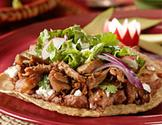 Black Bean and Pork Tostadas - Diabetic Gourmet Magazine - Diabetic Recipe