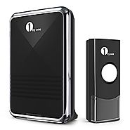 1byone Easy Chime Wireless Doorbell Kit, 1 Receiver & 1 Push Button with Sound and LED Flash, 36 Melodies to Choose, ...