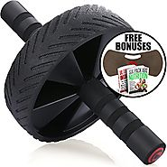 Fitnessery Ab Roller for Ab Workout - Exercise Equipment for Home Gym - Ab Wheel for Ab Crunch - Abs Wheel for Perfec...