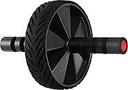 Ab Wheel & Roller- Core & Abdominal Trainer - Portable Premium Carver for Strengthening & Shaping Arms, Abs, Shoulder...