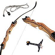 Takedown Recurve Bow Hunting and Archery - Hunting bow Ergonomically Designed 62 inch bow 35 lb draw back weight - Ar...