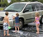 Turn a chore into a fun activity - car washing never looked more refreshing!