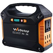 Webetop Portable Generator 155Wh Power Inverter Battery 100W 42000mAh Camping CPAP Emergency Home Use UPS Power Sourc...