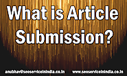 What is Article Submission in SEO?