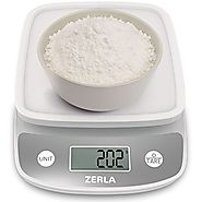 Digital Kitchen Scale by Zerla — Versatile Food Scale — Weigh Snacks, Liquids, & Foods — Accurate Weight Scale within...