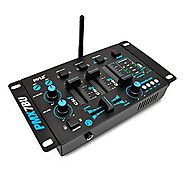 Pyle PMX7BU Bluetooth 3-Channel DJ MP3 Mixer, Mic-Talkover, USB Flash Reader, Dual RCA & Microphone Inputs, Headphone...