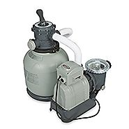 Intex Krystal Clear Sand Filter Pump for Above Ground Pools, 14-inch, 110-120V with GFCI