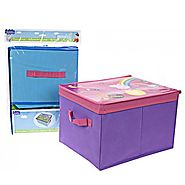 PEPPA PIG KIDS STORAGE BOX BOYS GIRLS TOYS CHEST HANDLE ORGANISER FOLDABLE