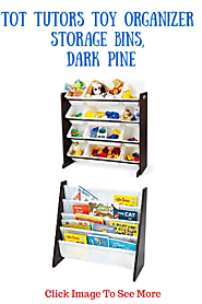 Tot Tutors Toy Organizer Storage Bins Dark Pine