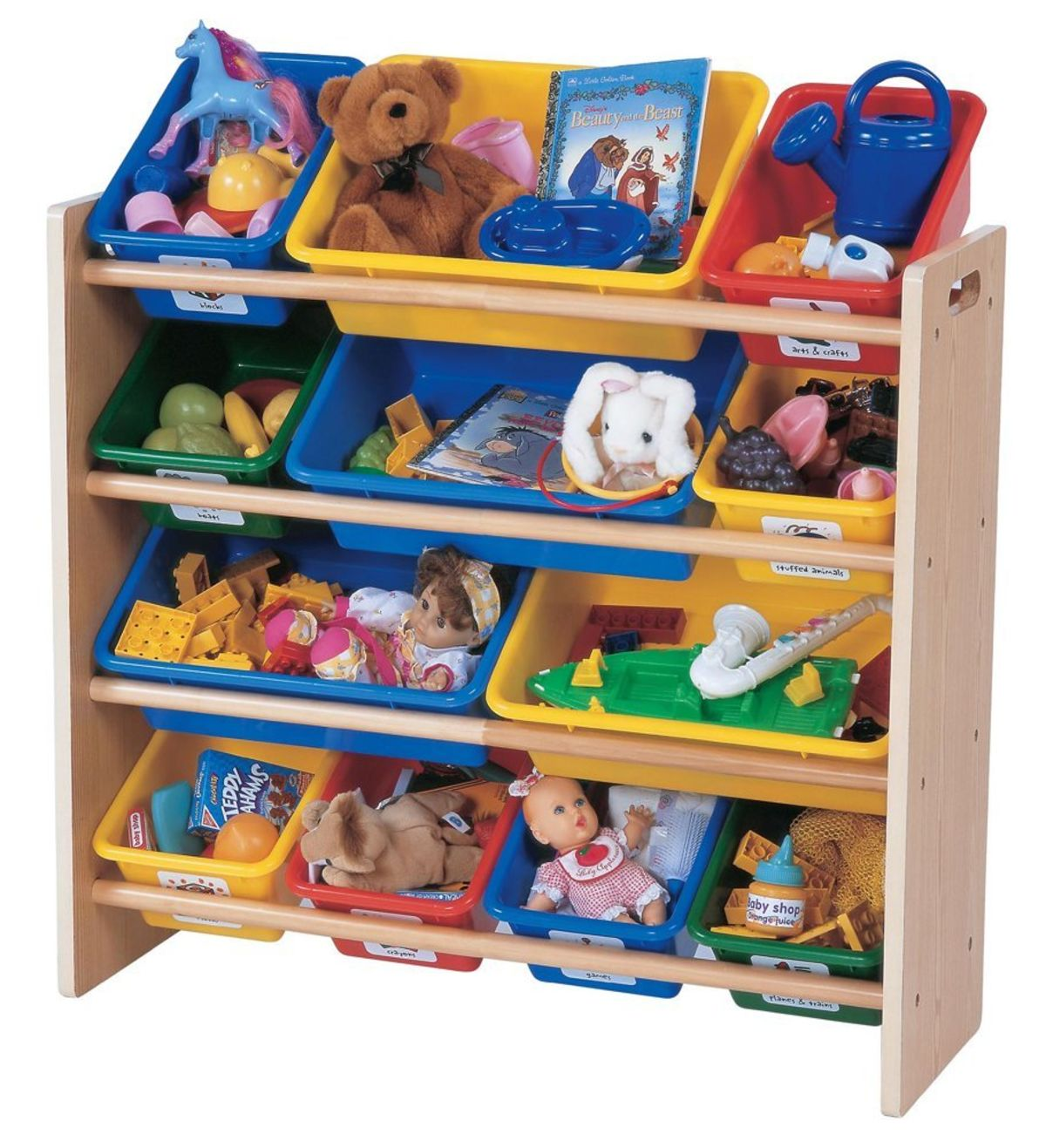 Headline for Tot Tutors Toy Organizer Storage Bins Dark Pine