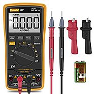 Digital Multimeter,Thsinde Auto-Ranging Digital Multimeter with Alligator Clips, AC Voltage Tester,Voltage Alert, Amp...