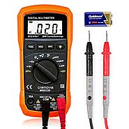 Digital Multimeter, Crenova MS8233D Auto-Ranging Digital Multimeters Electronic Measuring Instrument AC Voltage Detec...