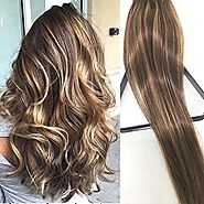 Clip in Hair Extensions Human Hair Extensions Clip on for Fine Hair Full Head 7 pieces 15 18 20 22 Silky Straight Wef...