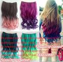 X&Y ANGEL- New Two Tone One Piece Long Curl/curly/wavy Synthetic Thick Hair Extension Clip-on Hairpieces 26 Colors (R...