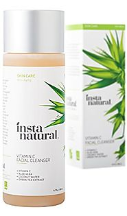 InstaNatural Vitamin C Facial Cleanser - Anti Aging, Breakout & Wrinkle Reducing Face Wash for Clear & Reduced Pores ...