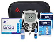 Active1st Bayer Contour NEXT Diabetic Testing Starter Kit 100 Strips 100 Lancets
