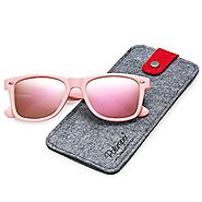 POLARSPEX POLARIZED UNISEX 80'S RETRO CLASSIC TRENDY STYLISH SUNGLASSES (Princess Pink | Pink Quartz, 52)