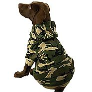 "Casual Canine Camo Hoodie for Dogs, 17"" Large, Green"