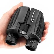 Aurosports 10x25 Folding High Powered Binoculars With Weak Light Night Vision Clear Bird Watching Great for Outdoor S...