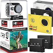 HDCool HC7000 4K Wi-Fi Action Camera 170 Degree Ultra Wide-Angle Lens 1080P HD 16MP Waterproof Sport Camera, 2.0 Inch...
