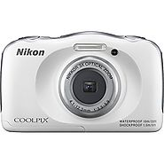 Nikon COOLPIX S33 13.2MP Waterproof Shockproof Freezeproof Digital Camera (White)(Certified Refurbished)