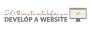 26 Things To Consider Before Developing A Brand New Website (Infographic)