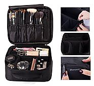 ROWNYEON Portable Travel Makeup Bag / Makeup Case / Mini Makeup Train Case 9.8''