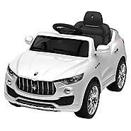 Costzon 6V Licensed Maserati Kids Ride On Car Opening Doors with Parental Remote Control, Swing Function, White