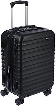 "AmazonBasics Hardside Spinner Luggage - 20"" Cabin Size, Black"