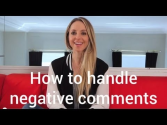 How to Handle Negative Comments