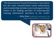 The Leader in Tennis Fitness, Tennis Training, Performance, Tennis Education and Tennis Certification