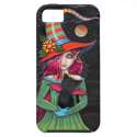 Little Wings Witch and Winged Cat Halloween Art iPhone 5 Covers from Zazzle.com