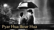 Pyar Hua Ikarar Hua - Raj Kapoor & Nargis - Shri 420 - Bollywood Evergreen Songs - Manna Dey & Lata - YouTube