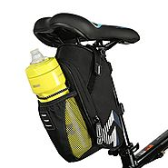 Allnice Bike Saddle Bag, 1.6L Mountain Road MTB Bicycle Cycling Polyester Saddle Bag with Pocket for Water Bottle, Bi...