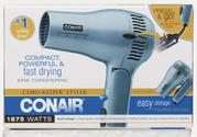Conair Ionic Conditioning 1875 Watt Cord-Keeper Hair Dryer w/ Retractable Cord and Folding Handle