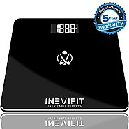 INEVIFIT BATHROOM SCALE, Highly Accurate Digital Bathroom Body Scale, Measures Weight for Multiple Users. Includes a ...