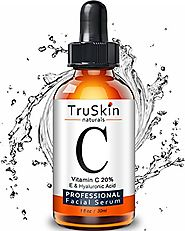 TruSkin Naturals Vitamin C Serum for Face, Organic Anti-Aging Topical Facial Serum with Hyaluronic Acid, 1 fl oz