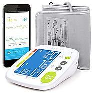 Balance Bluetooth Blood Pressure Monitor with Upper Arm Cuff, Digital Smart BP Meter With Large Display, Set also com...