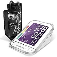 1byone Upper Arm Digital Blood Pressure Monitor Blood Pressure Cuff with Easy-to-Read Backlit LCD, Blood Pressure Mac...