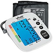 Blood Pressure Monitor by Vive Precision - Automatic Digital Upper Arm Cuff - Accurate, Portable and Perfect for Home...