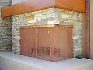 Copper Corner Bar Fireplace Screen | Fireplace Gallery | San Diego