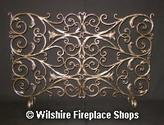 Scroll Wrought Iron Fireplace Screen | Wilshire Fireplace Shops