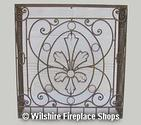 Custom Wrought Iron Fireplace Screen