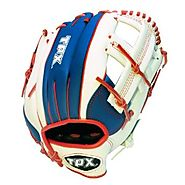 Louisville Slugger TPX Fielders Left Hand Glove - Red/White/Blue, 12 Inch