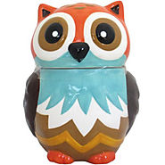 Earthenware Owl Cookie Jar, Multi-Color - Kitchen Things